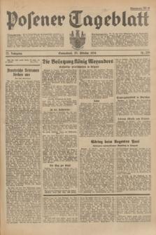 Posener Tageblatt. Jg.73, Nr. 239 (20 Oktober 1934) + dod.