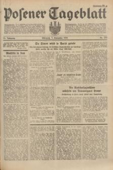 Posener Tageblatt. Jg.73, Nr. 253 (7 November 1934) + dod.
