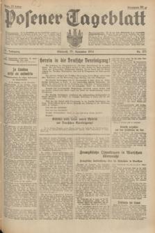 Posener Tageblatt. Jg.73, nr 271 (28 November 1934) + dod.