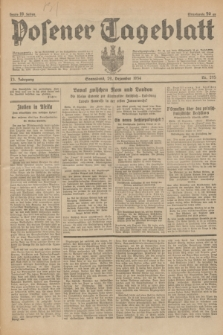 Posener Tageblatt. Jg.73, nr 295 (29 Dezember 1934) + dod.