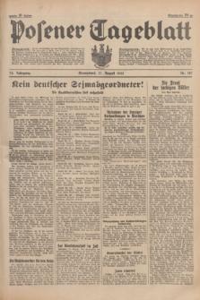 Posener Tageblatt. Jg.74, Nr. 187 (17 August 1935) + dod.
