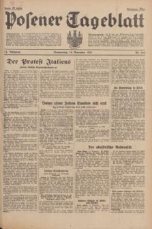 Posener Tageblatt. Jg.74, Nr. 262 (14 November 1935) + dod.