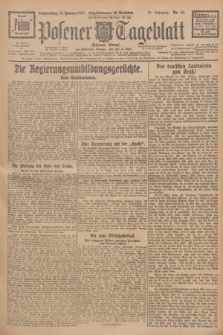 Posener Tageblatt (Posener Warte). Jg.66, Nr. 15 (20 Januar 1927) + dod.