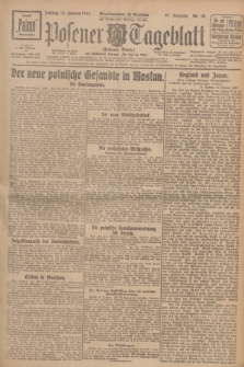 Posener Tageblatt (Posener Warte). Jg.66, Nr. 16 (21 Januar 1927) + dod.