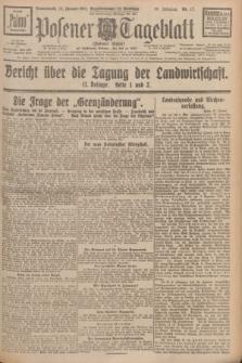 Posener Tageblatt (Posener Warte). Jg.66, Nr. 17 (22 Januar 1927) + dod.