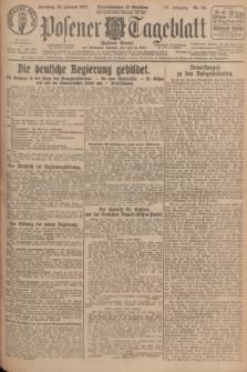 Posener Tageblatt (Posener Warte). Jg.66, Nr. 24 (30 Januar 1927) + dod.