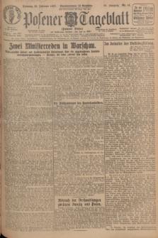 Posener Tageblatt (Posener Warte). Jg.66, Nr. 41 (20 Februar 1927) + dod.