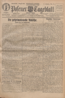 Posener Tageblatt (Posener Warte). Jg.66, Nr. 177 (6 August 1927) + dod.
