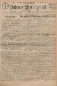 Posener Tageblatt (Posener Warte). Jg.66, Nr. 178 (7 August 1927) + dod.