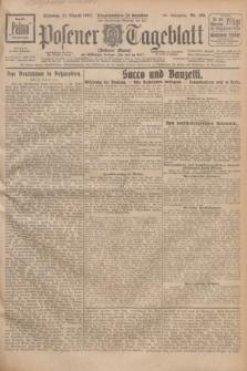 Posener Tageblatt (Posener Warte). Jg.66, Nr. 189 (21 August 1927) + dod.