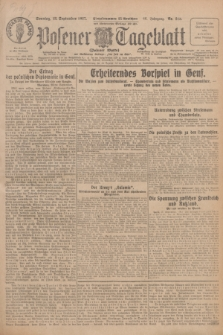 Posener Tageblatt (Posener Warte). Jg.66, Nr. 213 (18 September 1927) + dod.