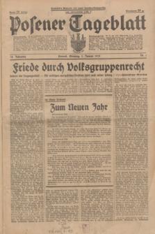Posener Tageblatt. Jg.78, Nr. 1 (1 Januar 1939) + dod.