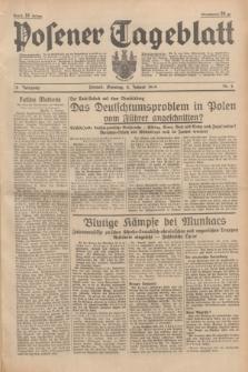 Posener Tageblatt. Jg.78, Nr. 6 (8 Januar 1939) + dod.