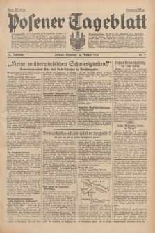 Posener Tageblatt. Jg.78, Nr. 7 (10 Januar 1939) + dod.