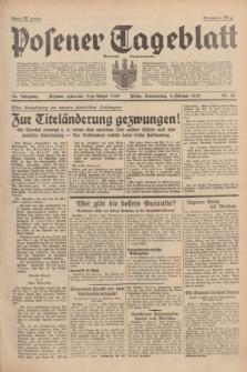 Posener Tageblatt = Żurnal Poznański. Jg.78, Nr. 32 (9 lutego 1939) + dod.