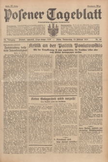 Posener Tageblatt = Poznańska Gazeta Codzienna. Jg.78, Nr. 44 (23 Februar 1939) + dod.