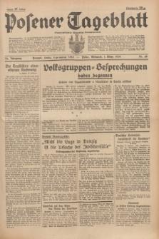 Posener Tageblatt = Poznańska Gazeta Codzienna. Jg.78, Nr. 49 (1 März 1939) + dod.