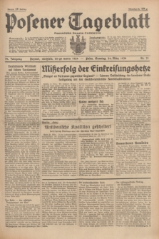 Posener Tageblatt = Poznańska Gazeta Codzienna. Jg.78, Nr. 71 (26 März 1939) + dod.