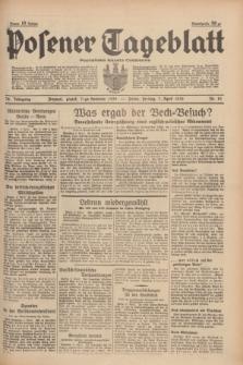 Posener Tageblatt = Poznańska Gazeta Codzienna. Jg.78, Nr. 81 (7 April 1939) + dod. (skonfiskowany)