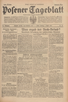 Posener Tageblatt = Poznańska Gazeta Codzienna. Jg.78, Nr. 81 (7 April 1939) + dod. (drugi nakład po konfiskacie)