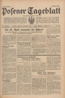 Posener Tageblatt = Poznańska Gazeta Codzienna. Jg.78, Nr. 89 (19 April 1939) + dod.