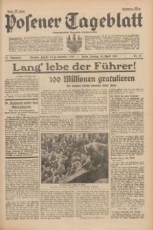Posener Tageblatt = Poznańska Gazeta Codzienna. Jg.78, Nr. 91 (21 April 1939) + dod.