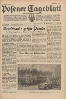 Posener Tageblatt = Poznańska Gazeta Codzienna. Jg.78, Nr. 92 (22 April 1939) + dod.