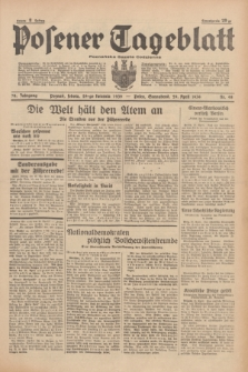 Posener Tageblatt = Poznańska Gazeta Codzienna. Jg.78, Nr. 98 (29 April 1939) + dod.