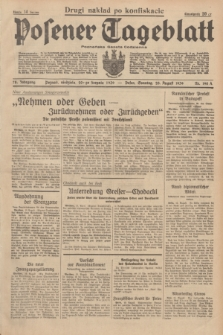 Posener Tageblatt = Poznańska Gazeta Codzienna. Jg.78, Nr. 190 A (20 August 1939) + dod. [po konfiskacie nakład drugi]