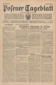 Posener Tageblatt = Poznańska Gazeta Codzienna. Jg.78, Nr. 191 (22 August 1939) + dod.