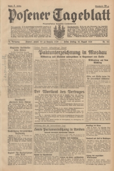 Posener Tageblatt = Poznańska Gazeta Codzienna. Jg.78, Nr. 194 (25 August 1939) + dod.