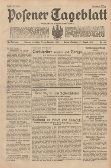 Posener Tageblatt = Poznańska Gazeta Codzienna. Jg.78, Nr. 196 (27 August 1939) + dod.