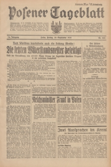 Posener Tageblatt. Jg.78, Nr. 218 (29 September 1939)