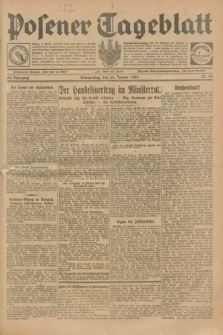Posener Tageblatt. Jg.68, Nr. 20 (24 Januar 1929) + dod.