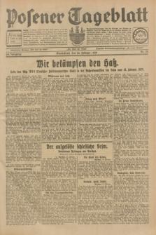 Posener Tageblatt. Jg.68, Nr. 39 (16 Februar 1929) + dod.