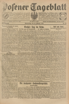 Posener Tageblatt. Jg.68, Nr. 49 (28 Febrauar 1929) + dod.