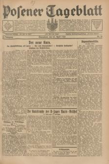 Posener Tageblatt. Jg.68, Nr. 91 (20 April 1929) + dod.