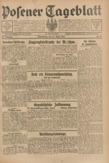 Posener Tageblatt. Jg.68, Nr. 97 (27 April 1929) + dod.