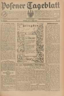 Posener Tageblatt. Jg.68, Nr. 114 (19 Mai 1929) + dod.