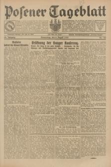 Posener Tageblatt. Jg.68, Nr. 180 (8 August 1929) + dod.