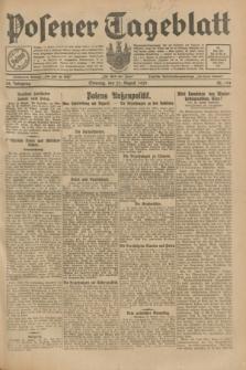 Posener Tageblatt. Jg.68, Nr. 194 (25 August 1929) + dod.
