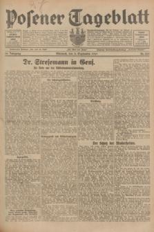 Posener Tageblatt. Jg.68, Nr. 208 (11 September 1929) + dod.