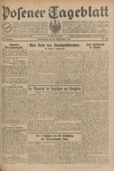 Posener Tageblatt. Jg.68, Nr. 221 (26 September 1929) + dod.