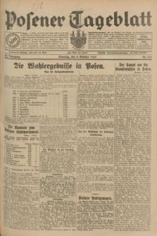 Posener Tageblatt. Jg.68, Nr. 231 (8 Oktober 1929) + dod.