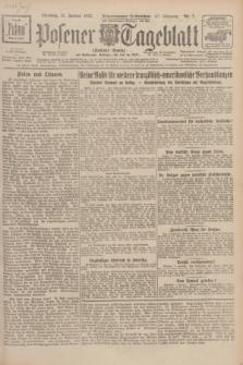 Posener Tageblatt (Posener Warte). Jg.67, Nr. 7 (10 Januar 1928) + dod.
