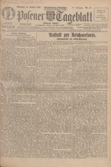 Posener Tageblatt (Posener Warte). Jg.67, Nr. 14 (18 Januar 1928) + dod.