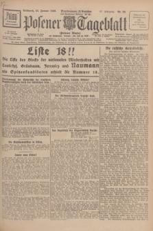 Posener Tageblatt (Posener Warte). Jg.67, Nr. 20 (25 Januar 1928) + dod.
