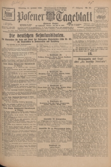 Posener Tageblatt (Posener Warte). Jg.67, Nr. 25 (31 Januar 1928) + dod.