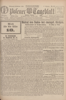 Posener Tageblatt (Posener Warte). Jg.67, Nr. 49 (29 Februar 1928) + dod.