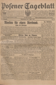 Posener Tageblatt. Jg.67, Nr. 80 (5 April 1928) + dod.